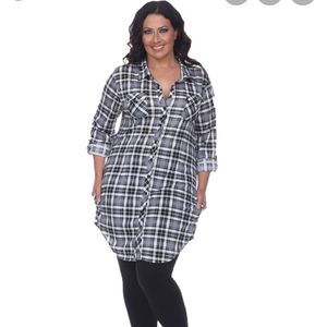 Plus size piper stretchy plaid tunic